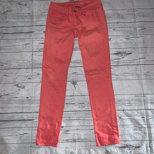 American Eagle Salmon Pink Skinny Jeans Size 2